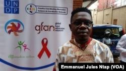 Serges Yotta, à Yaoundé, Cameroun, le 29 juillet 2019. (VOA/Emmanuel Jules Ntap)