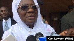 Awa Nana Daboya, le Haut-commissariat à la réconciliation et au renforcement de l'unité nationale (HCRRUN), à Lomé, Togo. (VOA/ Kayi Lawson)