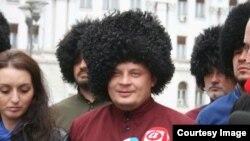 Nikolaj Đakonov s Kozacima u Banjoj Luci. Foto: Screenshot, N1.