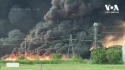 У США горить завод по виробництву та переробці поліетилену. Відео