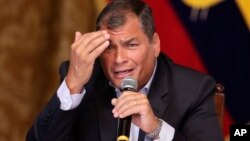 Presiden Ekuador Rafael Correa.