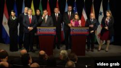 El grupo de Lima se reunió el lunes 4 de febrero de 2019 para recibir al gobierno encargado de Venezuela que lidera Juan Guaidó.