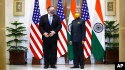 ABD Dışişleri Bakanı Mike Pompeo ve Hindistan Dışişleri Bakanı Subrahmanyam Jaishankar