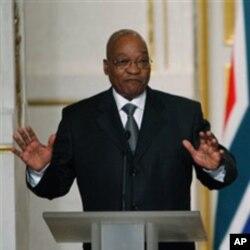 ប្រធានាធិបតីអាហ្រ្វិកខាងត្បូង Jacob Zuma