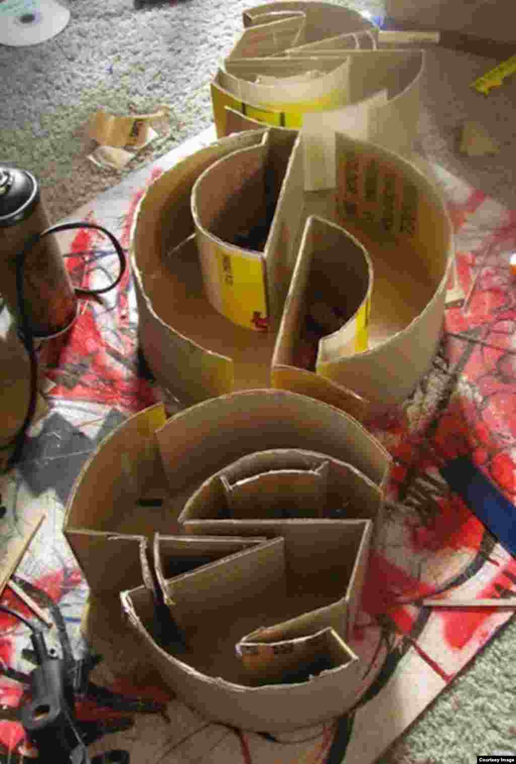 He's now using cardboard to create his art, and is blurring the boundaries between art and architecture (S. Radebe)