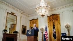 Presidenti Joe Biden mban fjalën e tij gjatë punimeve virtuale të Konferencës së Sigurisë të Mynihut