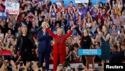 Clinton ႏွင့္ Trump မာရသြန္ မဲဆြယ္လႈပ္ရွားမႈ သတင္းဓါတ္ပံုမ်ား