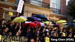 华盛顿声援香港集会