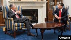 El embajador de Colombia en Washington, Carlos Urrutia y el senador estadounidense Marco Rubio, dialogaron sobre los principales aspectos de la relación bilateral.