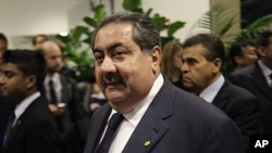 Iraqi Foreign Affairs Minister Hoshyar Zebari arrives to a meeting about Libya during the 66th session of the General Assembly at United Nations headquarters, September 20, 2011.