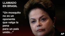 La presidenta brasileña, Dilma Rousseff, apeló a sus compatriotas para luchar contra el virus del Zika.