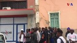Manifestação no Namibe contra a falta de electricidade