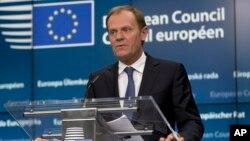 Pemimpin Dewan Eropa, Donald Tusk (foto: dok).