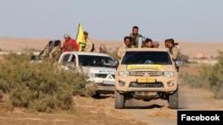La force des SDF dans le nord de Raqa