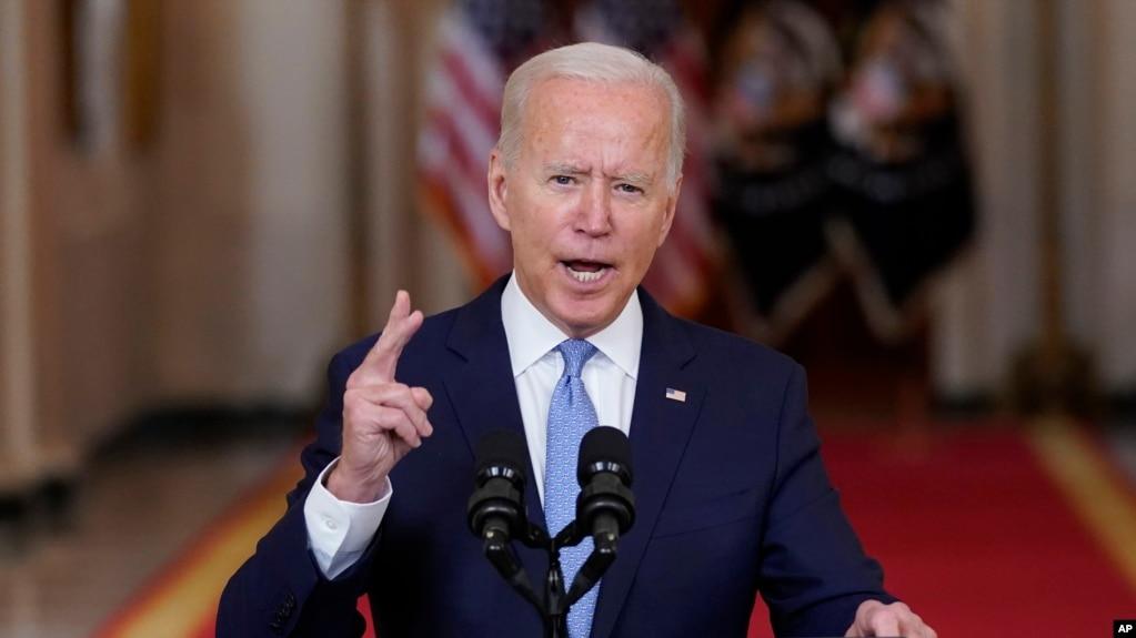 美国总统拜登2021年8月31日宣布美国在阿富汗的战事结束(美联社)