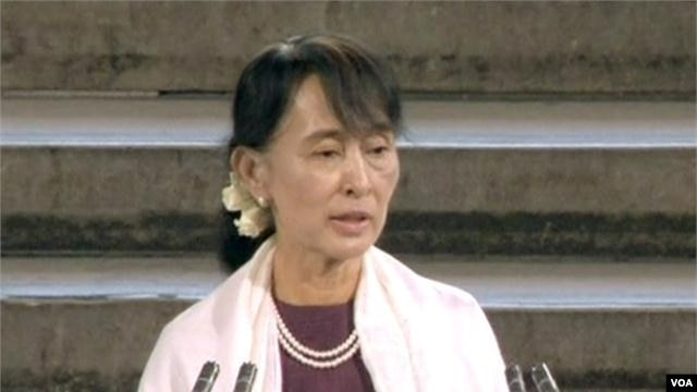 Aung San Suu Kyi Addresses British Parliament
