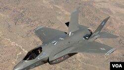 Pesawat tempur siluman F-35 yang dibuat oleh perusahaan AS, Lockheed Martin.
