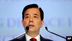 한민구 한국 국방부 장관 (자료사진)