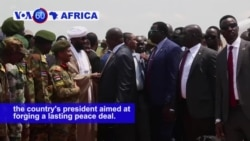 VOA60 Africa - S. Sudan: Rebel leader, Riek Machar, arrived in Juba for talks with the country's president