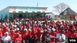 Prime Minister Morgan Tsvangirai addressing villagers in Hwedza, Mashonaland East Province on Wednesday