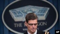 4월 29일 미 국방부에서 아프간 오폭 사건 조사결과 발표하는 조셉 보텔 미 중부군 사령관