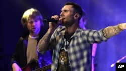 FILE - Adam Levine of the musical group Maroon 5 seen at Universal Music Group: Lucian Grainge's 2015 Artist Showcase.