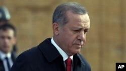 FILE - Turkish President Recep Tayyip Erdogan.