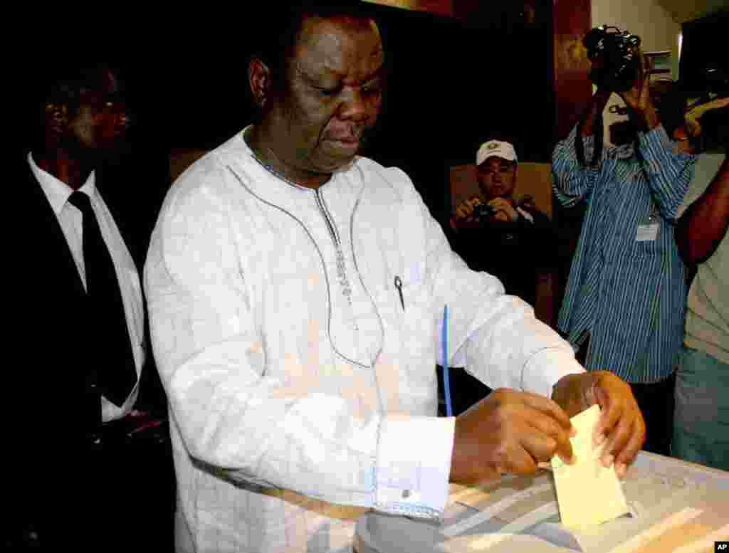 Morgan Tsvangirai Voting 2008