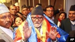 Thủ tướng mới đắc cử của Nepal, ông Sushil Koirala, phát biểu trước báo giới tại Katmandu, ngày 10/2/2014.