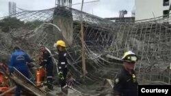 myanmar worker die in the construction site (ဖူးခက္ ကယ္ဆယ္ေရးသမားမ်ား ရဲ့ ပံု)