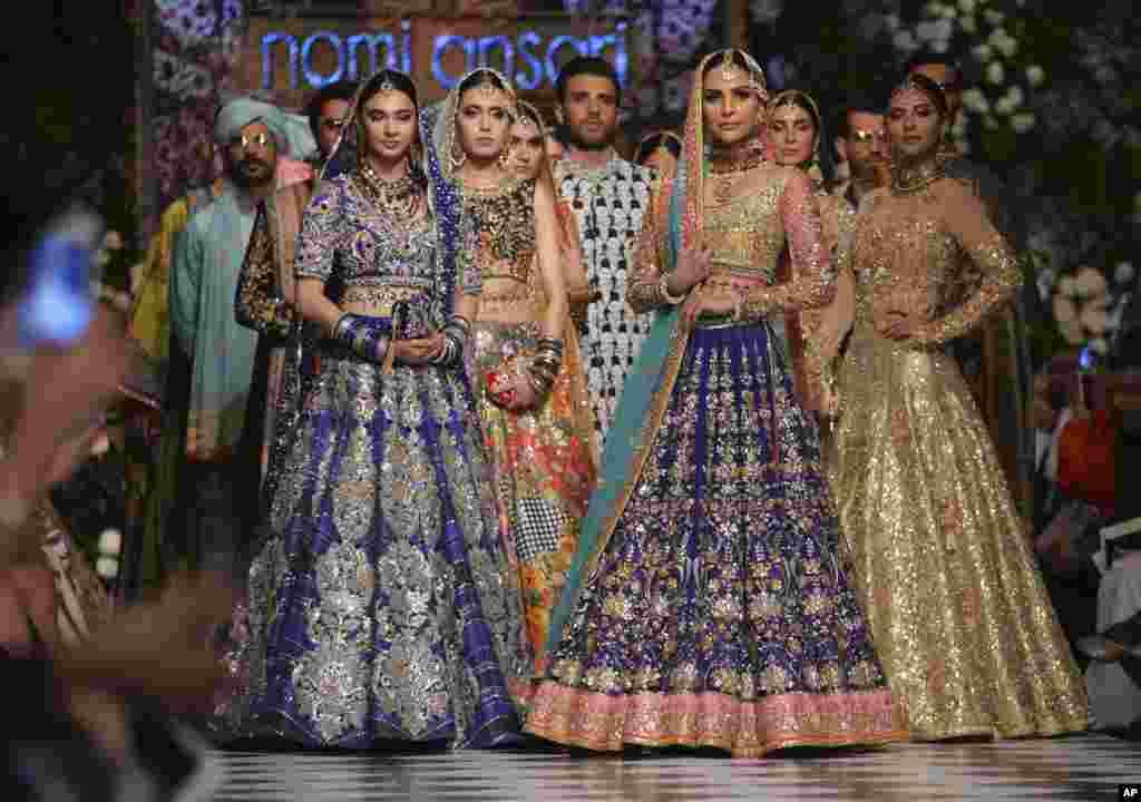 نمایش مد در لاهور پاکستان با همراهی شرکت فرانسوی لورآل