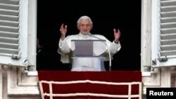 教宗本篤16世在寓所舉行在任最後一次星期日祈禱