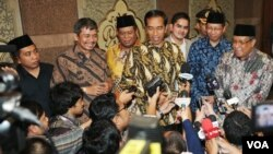 Presiden Joko Widodo di kantor PBNU, Rabu (24/12). (VOA/Andylala Waluyo)