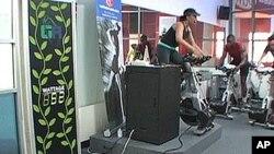 健身者能看到他们发了多少电