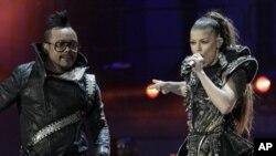 Le groupe Black Eyed Peas au grand concert de jeudi soir, à Soweto