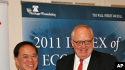 香港位居2011年全球经济自由度排名榜首