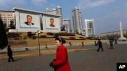 지난 2월 북한 평양 거리. (자료사진)