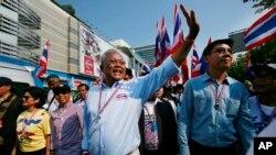 Pemimpin demonstran anti-pemerintah Thailand Suthep Thaugsuban