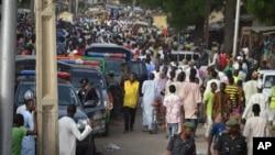 지난달 30일 폭탄 공격이 발생한 나이지리아 마이두구리 시장. (자료사진)
