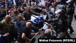 Sukob boraca i policije na glavnoj sarajevskoj saobraćajnici, 5. septembrar 2018.