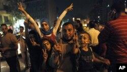 Сторонники Мохамеда Морси на площади Тахрир в Каире, Египет
