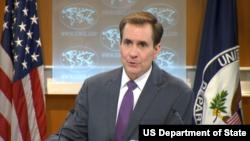 John Kirby, juru bicara Departemen Luar Negeri AS (Foto: dok).