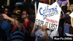 加州之梦终成真(美国之音国符拍摄)