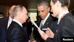 Владимир Путин и Барак Обама. Пекин, Китай, 11ноября 2014.