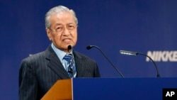 마하티르 모하마드 말레이시아 총리.