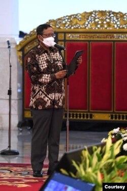 Menko Polhukam Mahfud MD menyebut peristiwa Karhutla turun signifikan sampai 88 persen dibandingkan dengan Karhutla yang terjadi di tahun 2015. (Foto: Biro Setpres)