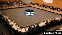지난 2월 열린 자금세탁방지 국제기구 총회. FATF 제공. (자료사진)