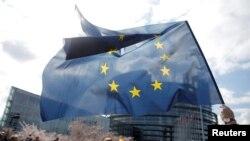 유럽연합(EU) 깃발이 펄럭이고 있다.