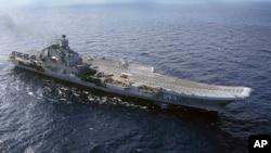 El portaaviones ruso Almirante Kuznetsov forma parte de la ofensiva rusa en Siria.