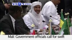 VOA60 Africa- Mali: Government officials call for swift implementation of peace agreement